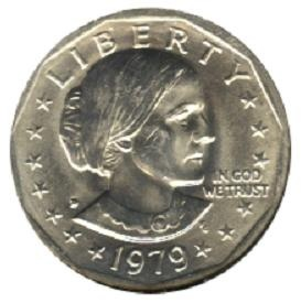 1979 D BU Susan B Anthony SBA Dollar | Surfcoins