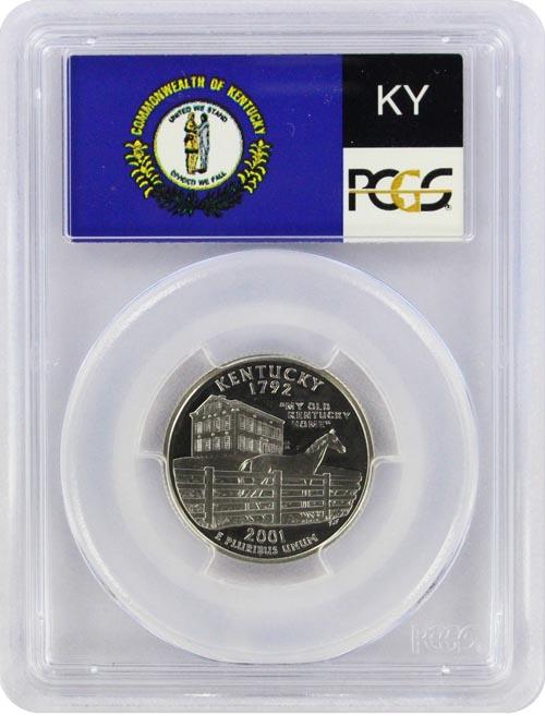 2001 S 25C Silver Kentucky Quarter PCGS PR69DCAM
