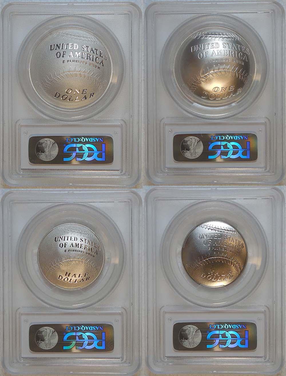 2014 baseball hall of fame commemorative 4 coin set pcgs pr 69