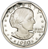 Proof Susan B Anthony Dollars SBA