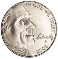 Satin Finish Jefferson Nickels