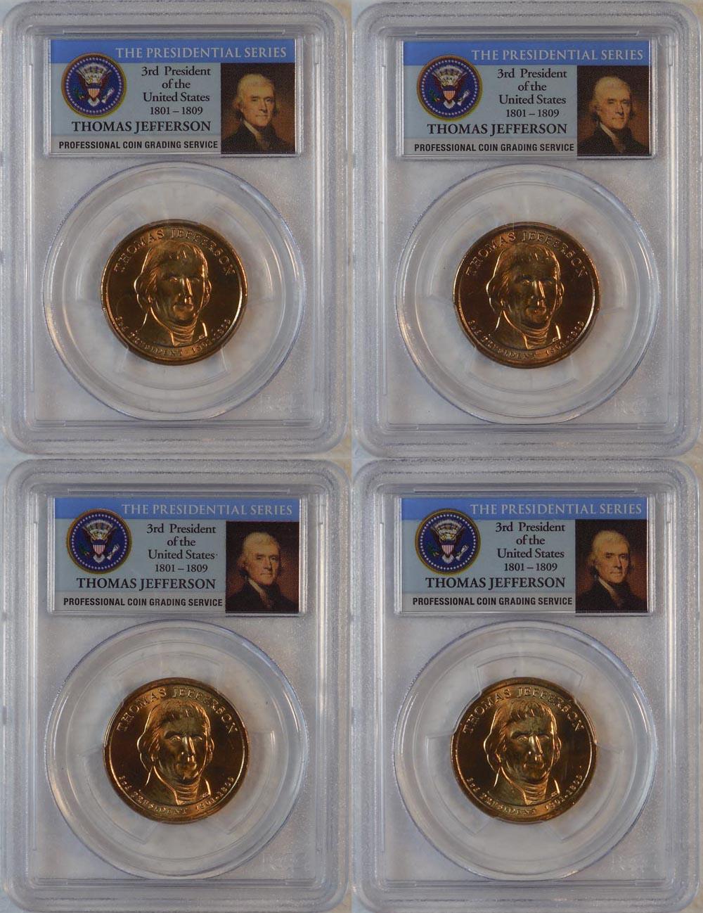 2007 S $1 Thomas Jefferson Presidential Dollar PCGS PR69DCAM