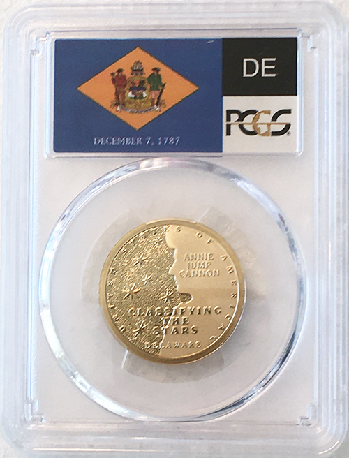 2019 S Proof Delaware American Innovation Dollar PCGS PR 69 DCAM State Flag Label