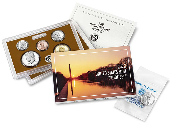 2020 U.S. Clad Proof Set 10 Coins Plus a 2020 W Proof Jefferson Nickel