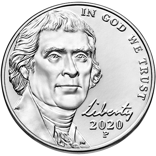 2020 Jefferson Nickels