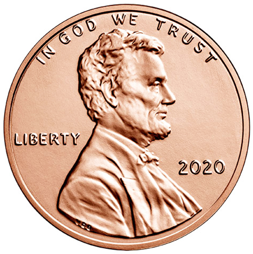 2020 Lincoln Shield Cents