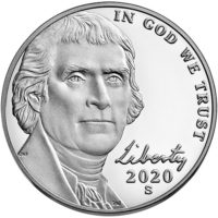 Proof Jefferson Nickels