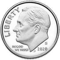 Clad and Silver Proof Roosevelt Dimes