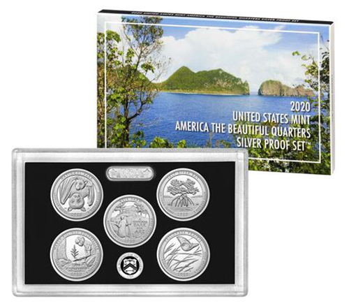 2020 Silver Proof Set National Park Quarters
