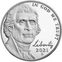 Proof Jefferson Nickels