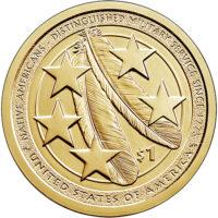 BU, Satin Finish and Proof Sacagawea Native American Dollars